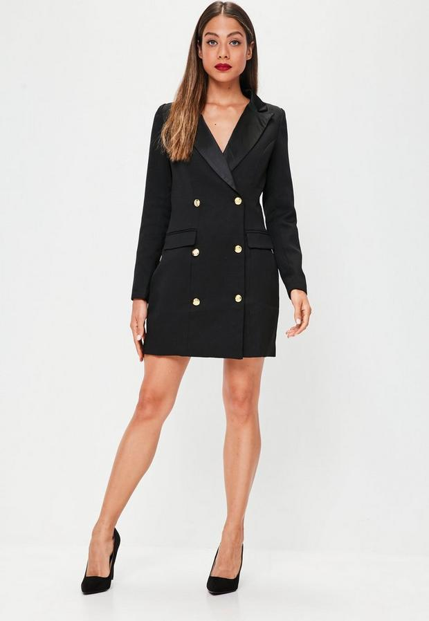 Missguided - Button Tuxedo Blazer Dress - 2