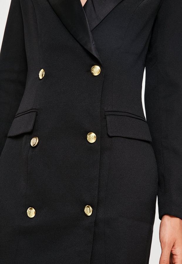 Missguided - Button Tuxedo Blazer Dress - 3