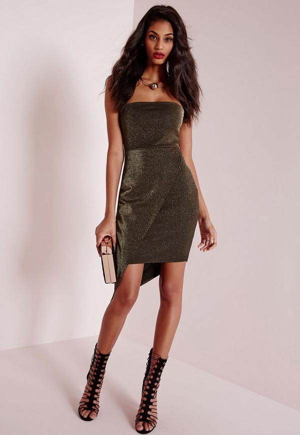 Bandeau Bodycon Dress Copper