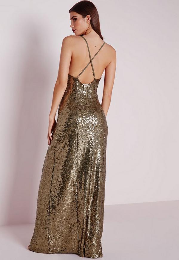 Robe soiree couleur bronze