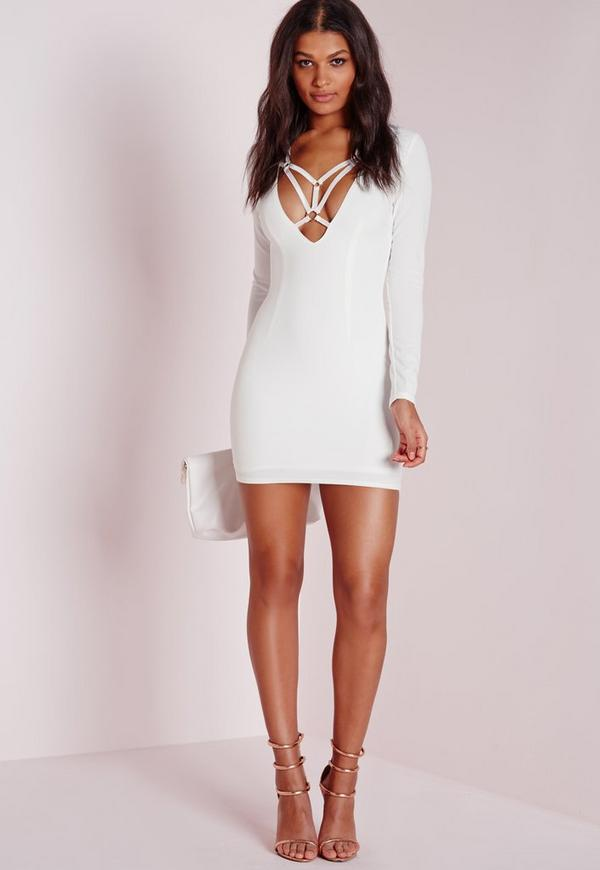 2d77e29b6a White Long Sleeve Bodycon Dress – fashion dresses