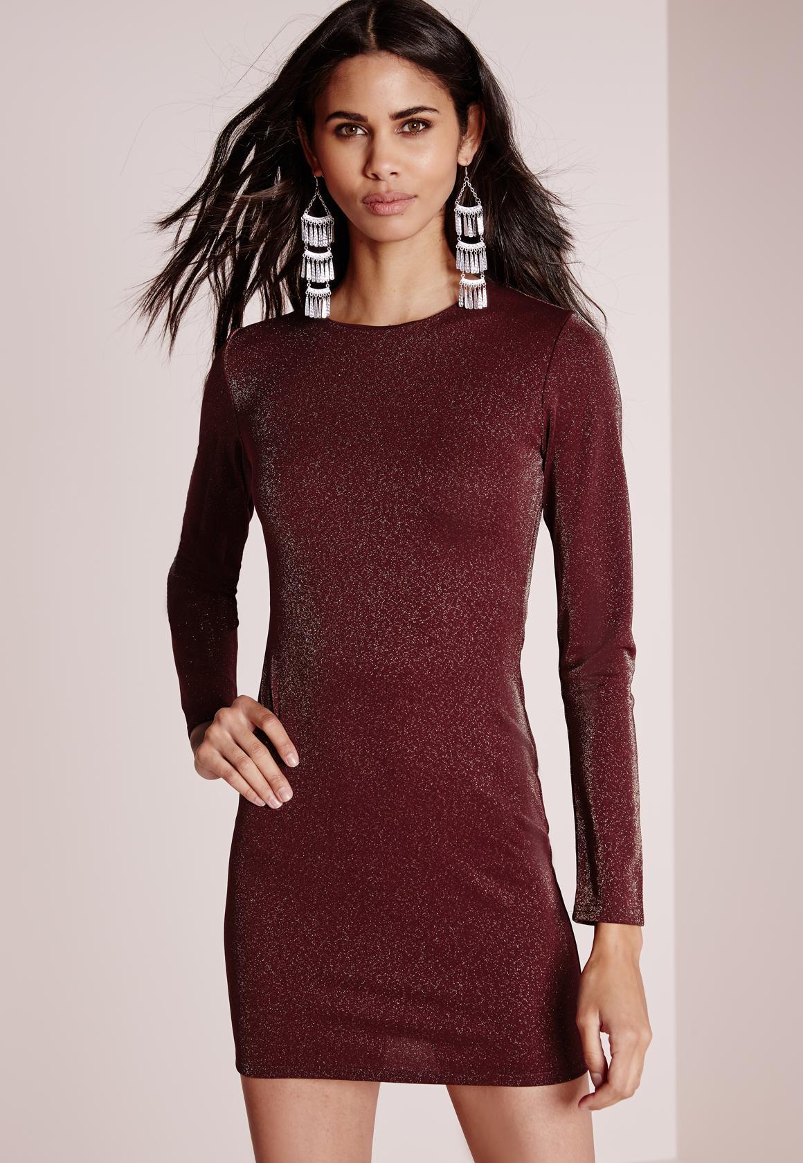 Burgundy dress long