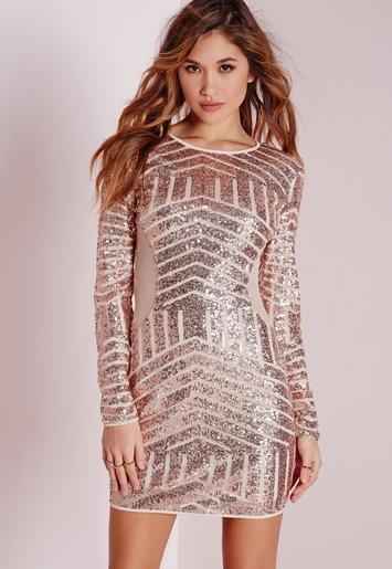 Black missguided white dress long bodycon sequin sleeve look knoxville tennessee