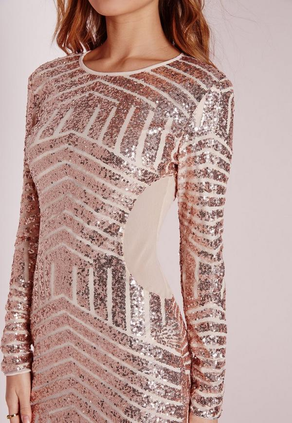 Canada rose sequin bodycon long gold dress sleeve yarraville south africa