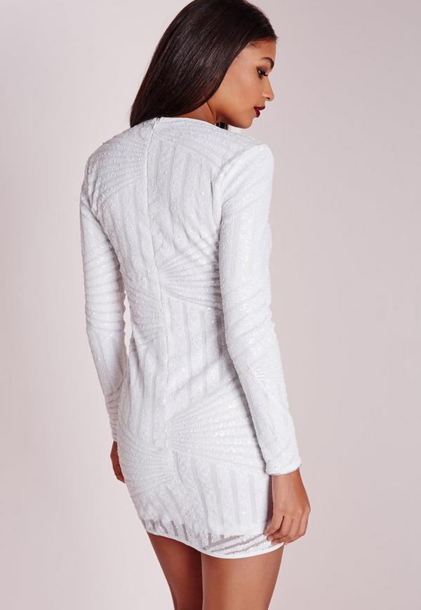 Bodycon sleeve plus white dress long description