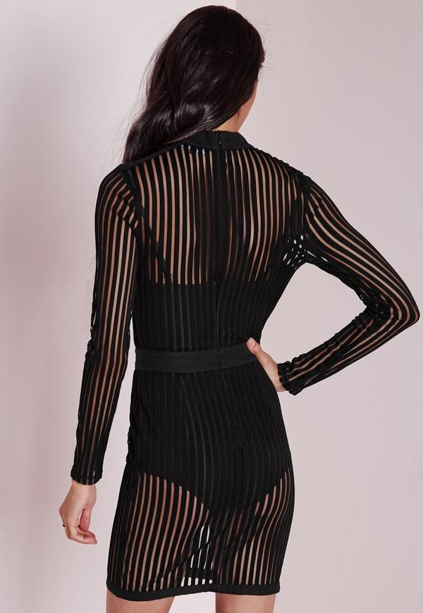 Uk striped dress sleeved long bodycon travel collection