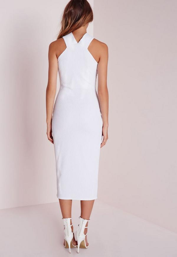 2d65559fc0b8 ... Textured Midi Dress White. Previous Next