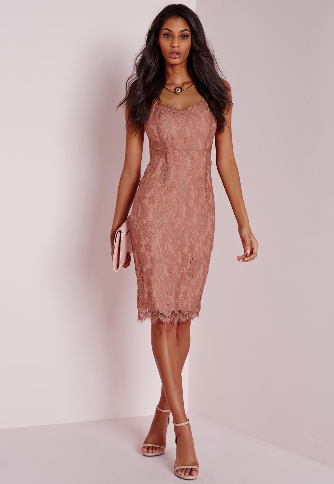 Dusky pink and black dress