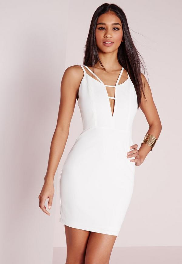 Strappy Plunge Mini Dress