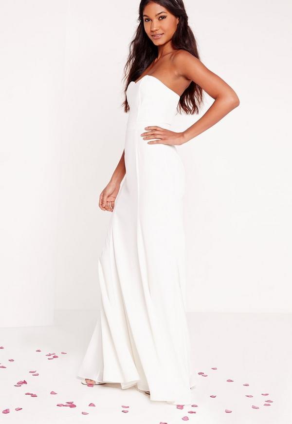 Bridal Bandeau Maxi Dress White Missguided