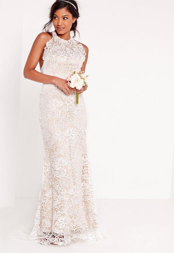 Halter Neck Lace Wedding Dresses Uk - Wedding Dresses Asian