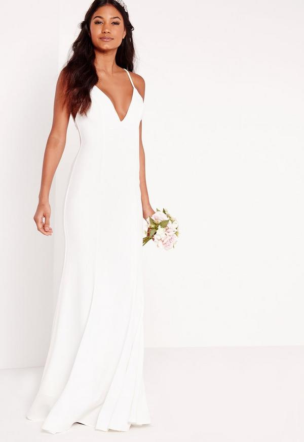 Bridal Cami Maxi Dress White Missguided