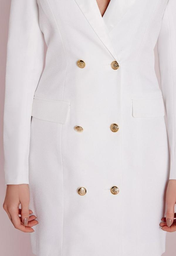 White tuxedo blazer dress white