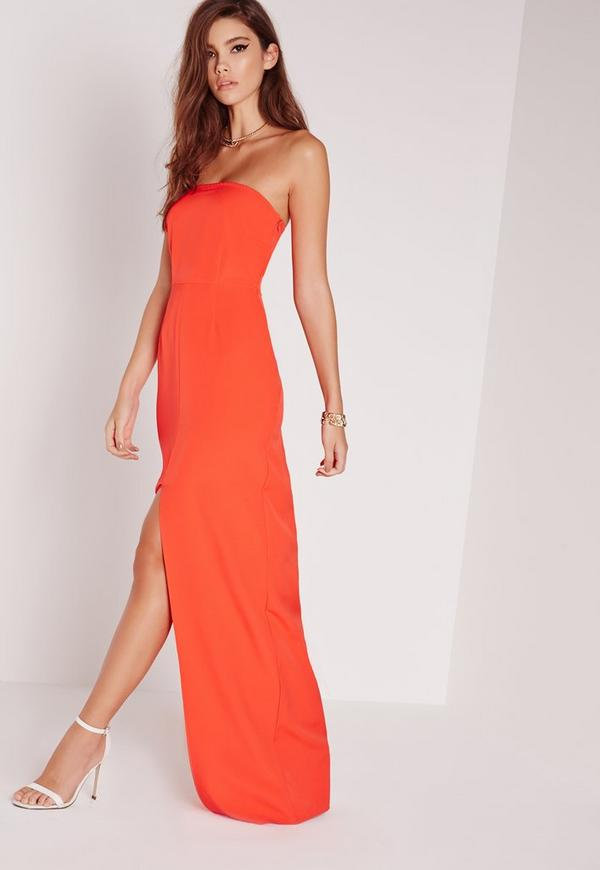 Bandeau Maxi Dress Red