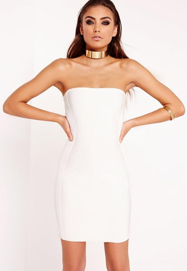 Bandage Bandeau Mini Dress White