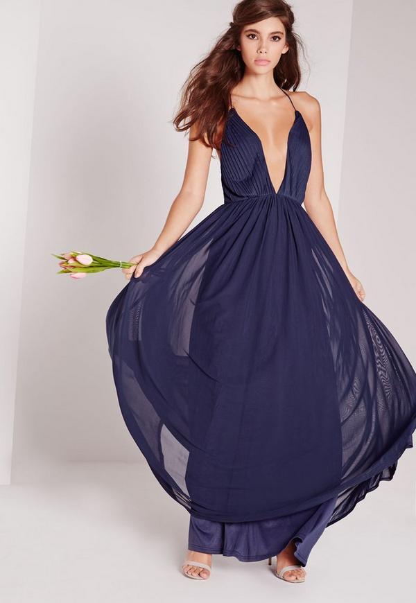 robes longues bleu marine. Black Bedroom Furniture Sets. Home Design Ideas