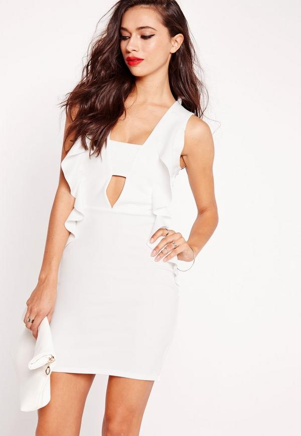 Zombie dress with sides cutout white bodycon stores france