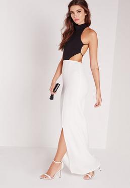 Backless Maxi Dress Monochrome