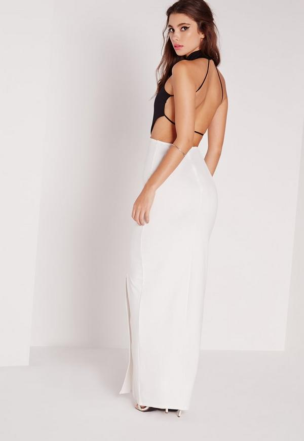 Backless Maxi Dress Monochrome | Missguided