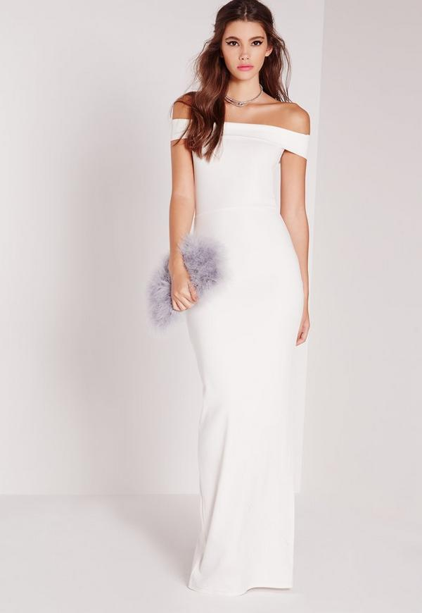 Bardot Maxi Dress White