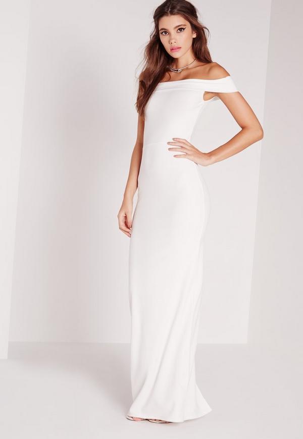 Bardot Maxi Dress White | Missguided