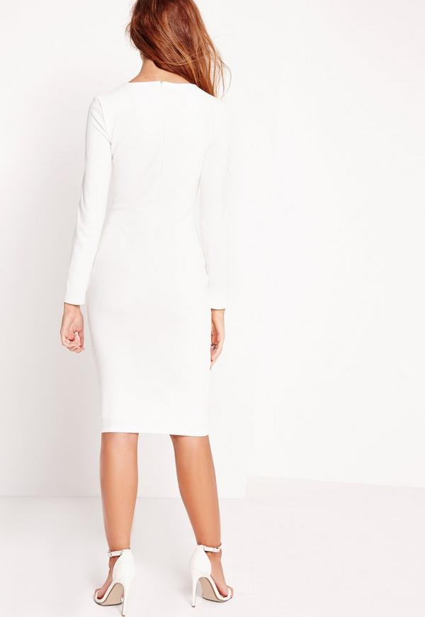 Bodycon flowy white sleeve dress layers long stores size