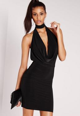 Choker Bodycon Dress Black