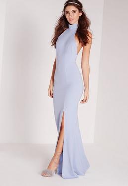 Choker Maxi Dress Blue
