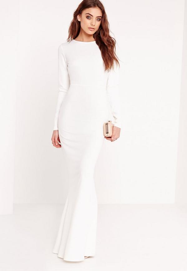 Robe longue manche longue blanche