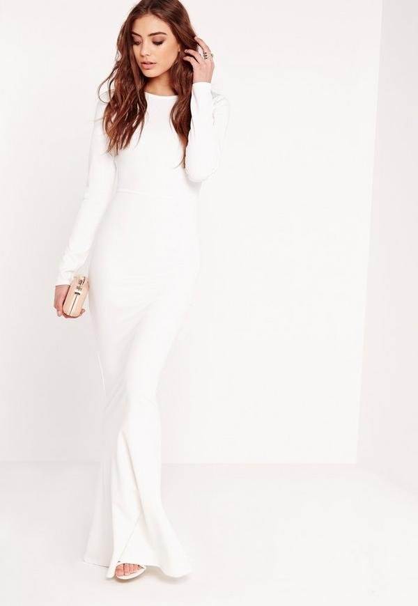 White dress long sleeve