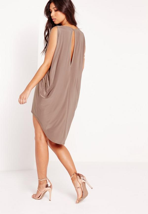 Robe fluide taupe