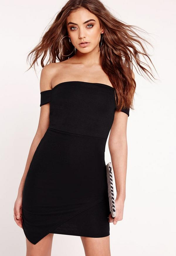 Bardot Bodycon Dress Black
