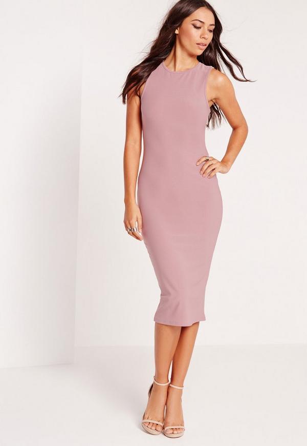 Sleeveless Midi Dress Mauve