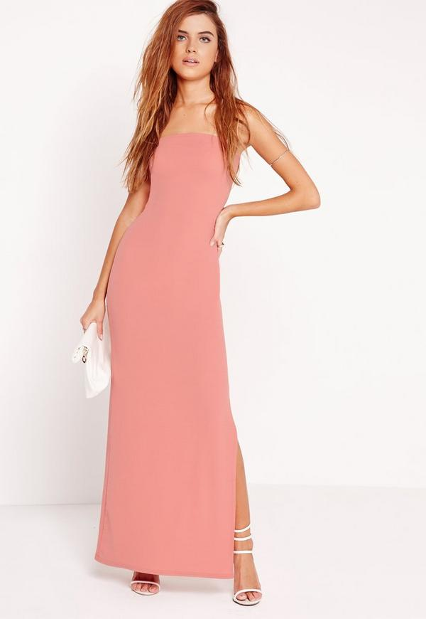 Bandeau Maxi Dress Pink
