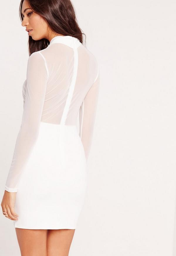 Winter sleeve topper long white bodycon dress protection key