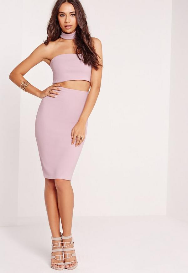 Choker Midi Dress Lilac