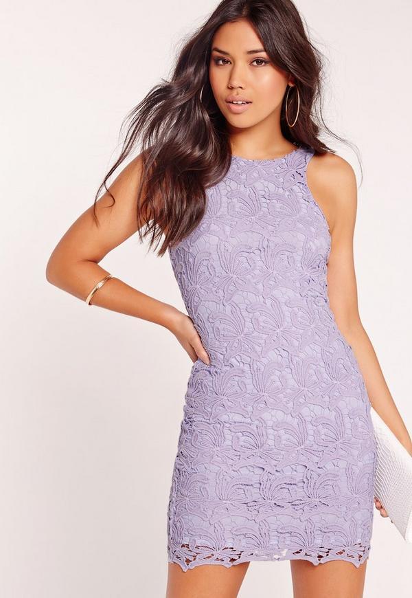 Lace Bodycon Dress Lilac