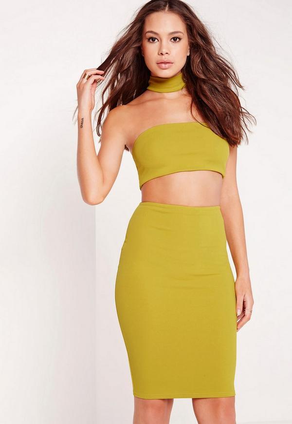 Choker Midi Dress Green