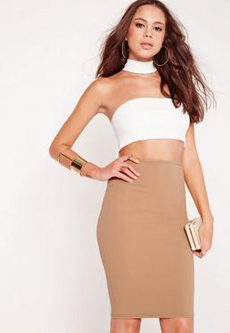 Choker Midi Dress Camel