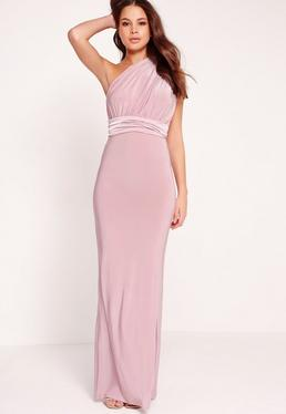 Slinky Multiway Maxi Dress Lilac
