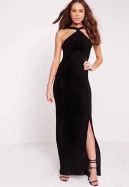 Slinky Multiway Maxi Dress Black