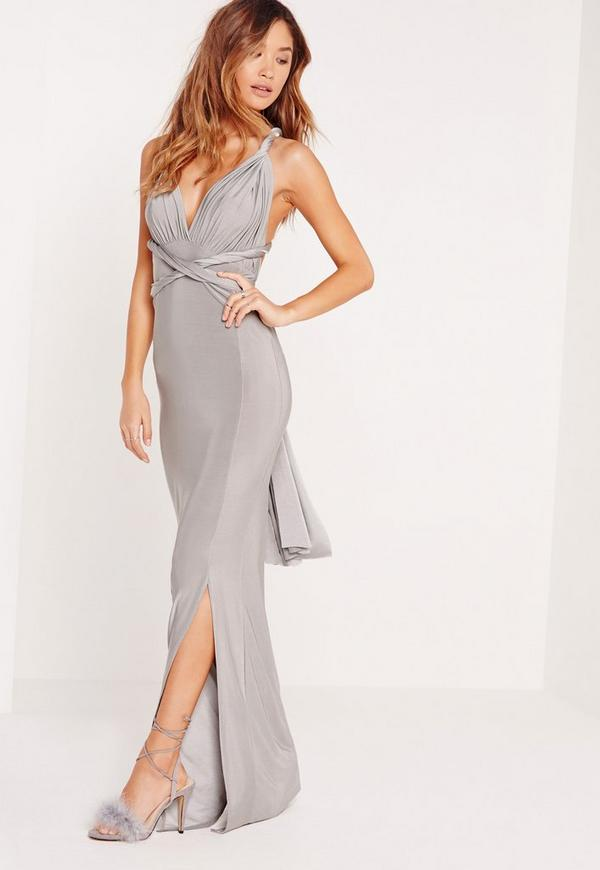 Slinky Multiway Maxi Dress Grey