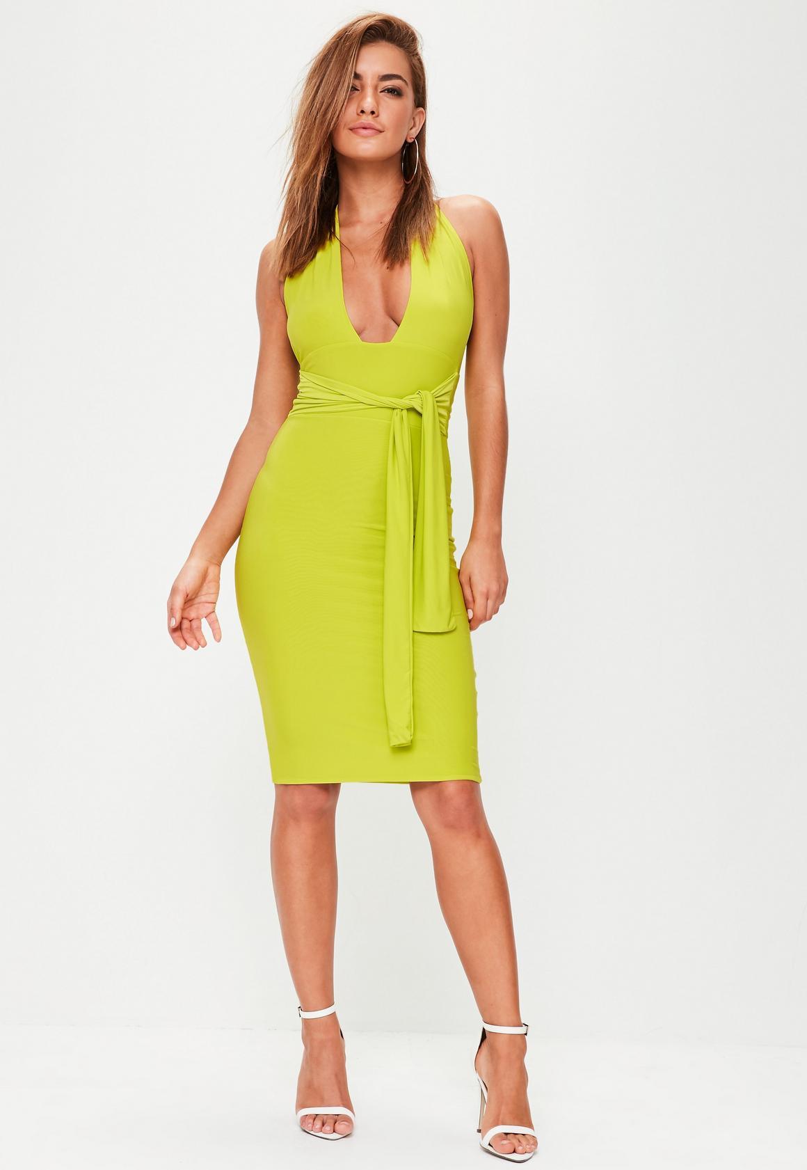 Kleider neon grun