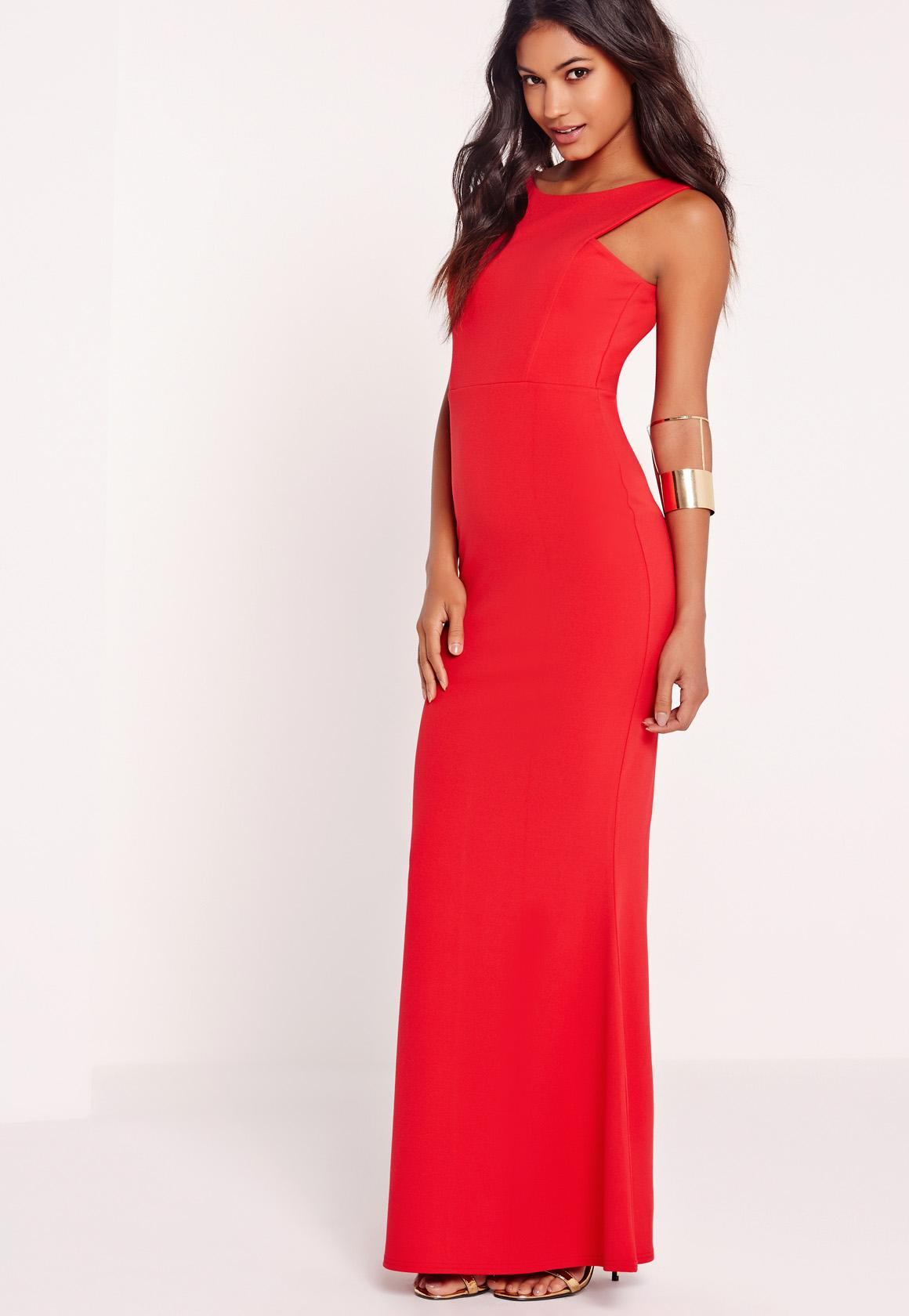 Low Back Maxi Dress Red | Missguided