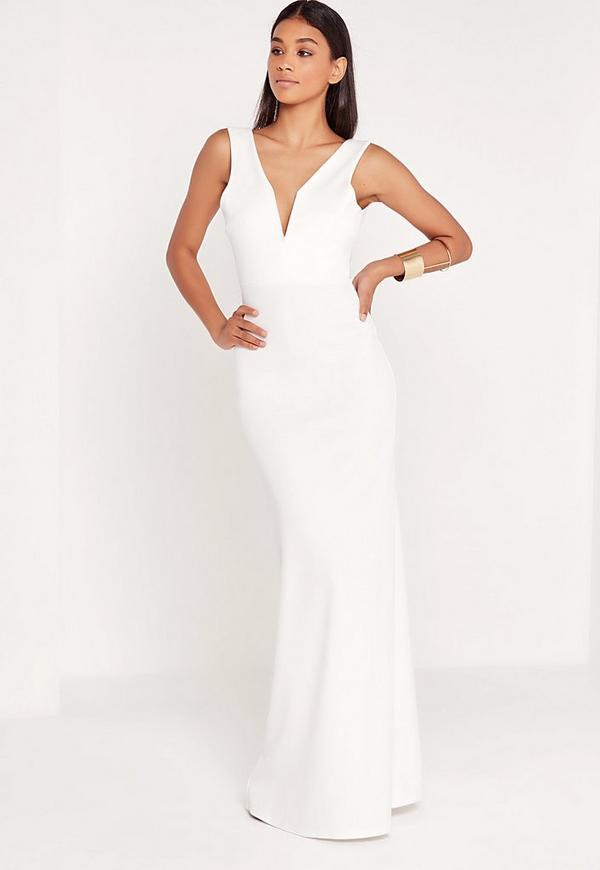 Robe blanche longue missguided