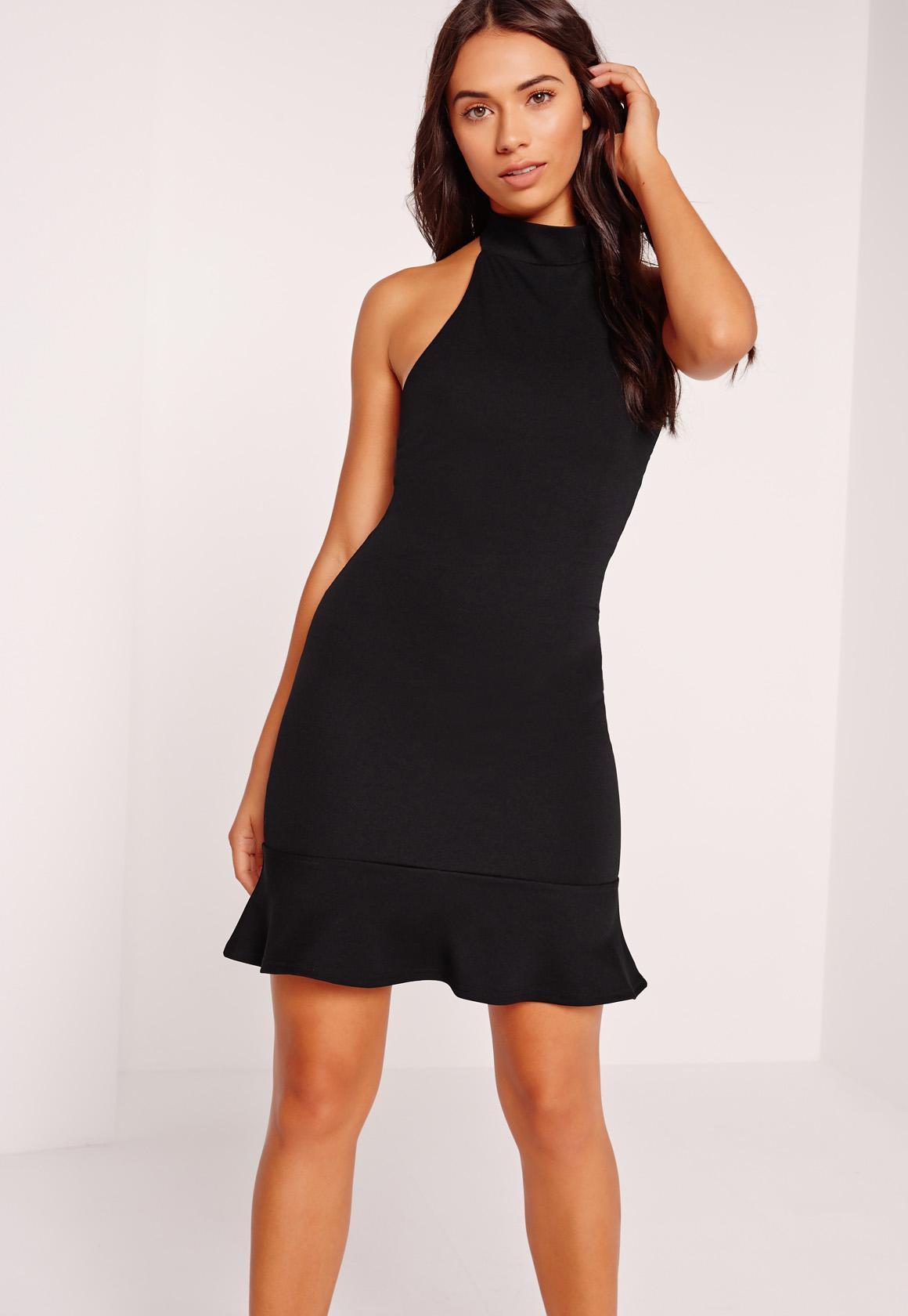 Black Halter Neck Dress | Ejn Dress