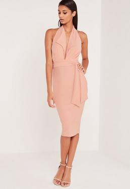 Carli Bybel Blazer Style Midi Dress Pink