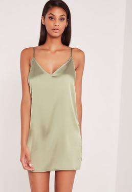 Carli Bybel Silky Cami Dress Green