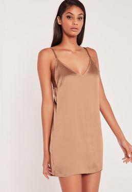 Carli Bybel Silky Cami Dress Pink