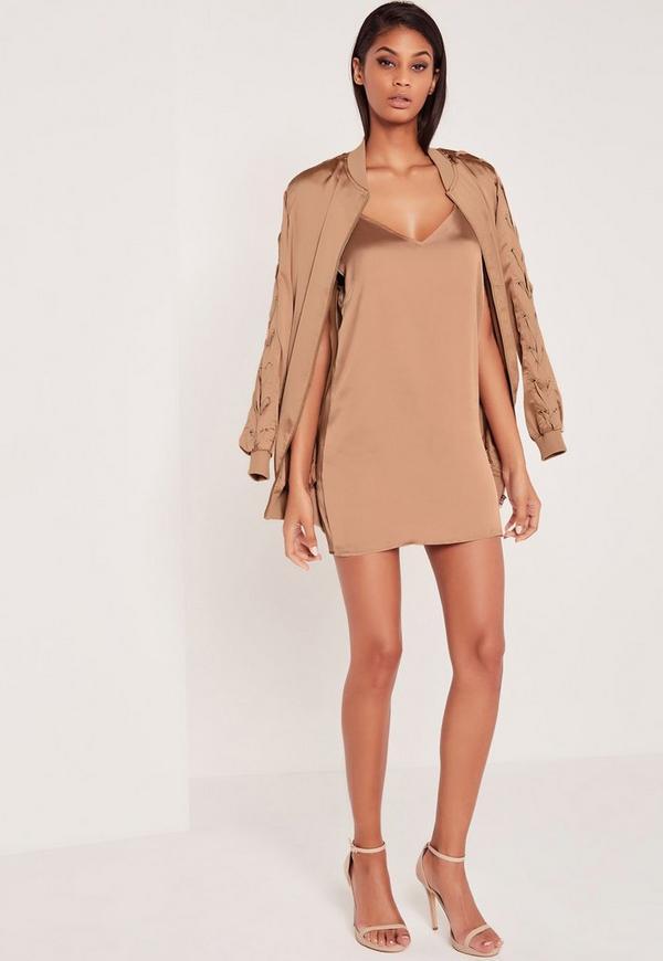 Carli Bybel Silky Cami Dress Pink | Missguided Australia